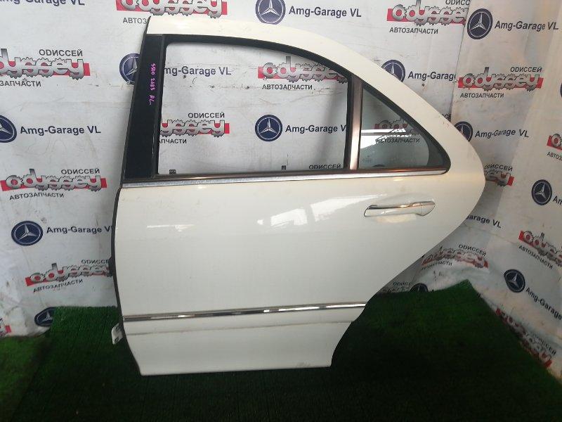 Дверь Mercedes S500 W220 113960 2002 задняя левая