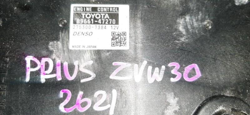 Блок efi Toyota Prius ZVW30 2ZR-FXE 2009