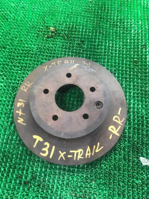 Тормозной диск Nissan Xtrail NT31 MR20 задний правый