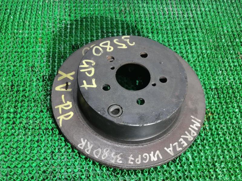 Тормозной диск Subaru Impreza Xv GP7-036034 FB20 2013 задний