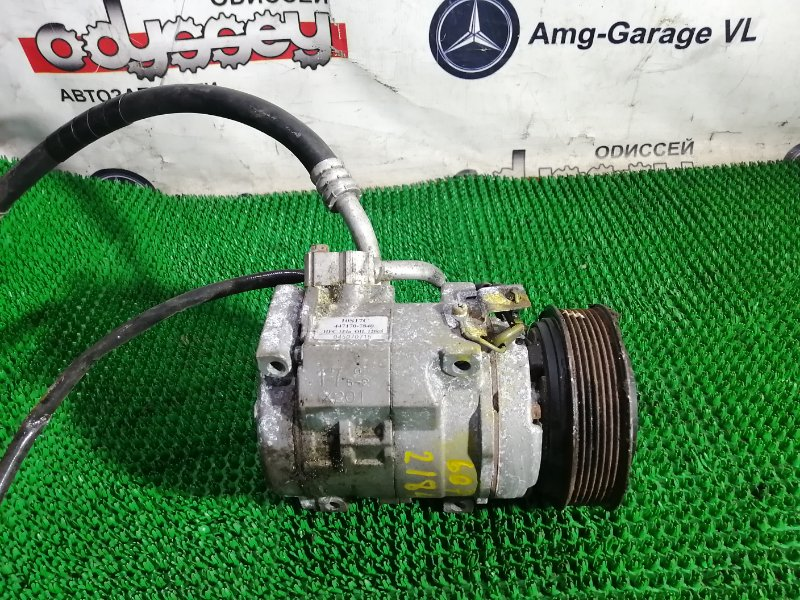 Компрессор кондиционера Mitsubishi Pajero V63W 6G72 2002