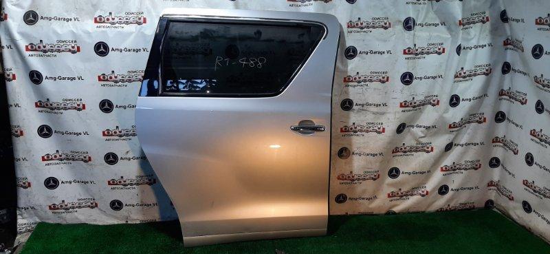 Дверь Toyota Alphard ANH25-8013509 2AZ-FE 2009 задняя правая