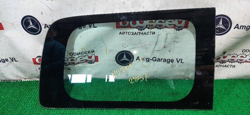 Стекло собачника Nissan Nv 200 VM20 HR16DE 2008 заднее правое