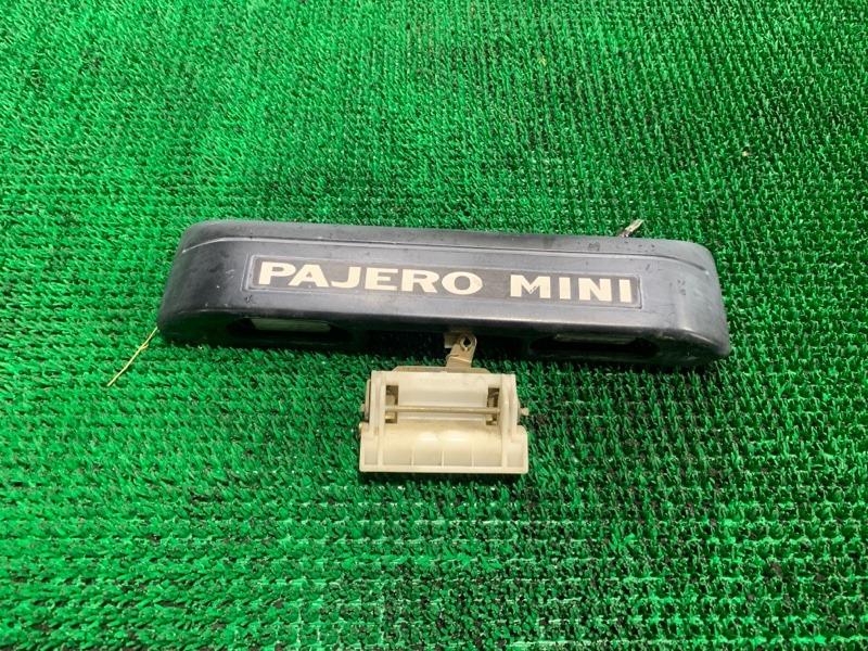 Подсветка номера Mitsubishi Pajero Mini H58A 4A30-T 2001