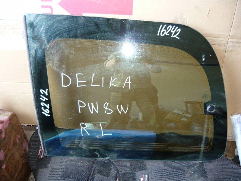 Стекло собачника Mitsubishi Delica PW8W заднее левое