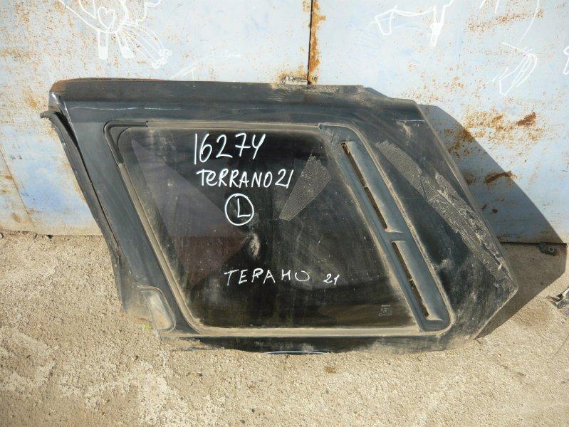Стекло собачника Nissan Terrano D21 левое