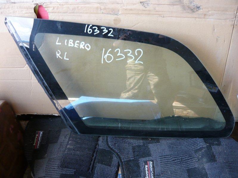 Стекло собачника Mitsubishi Libero CB8W заднее левое