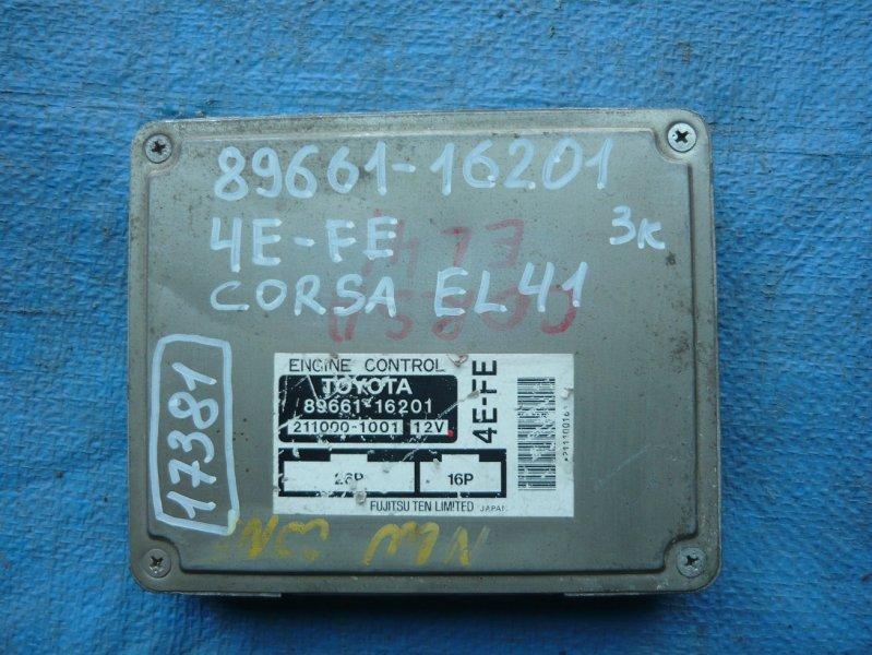 Блок efi Toyota Corsa EL41 4E-FE