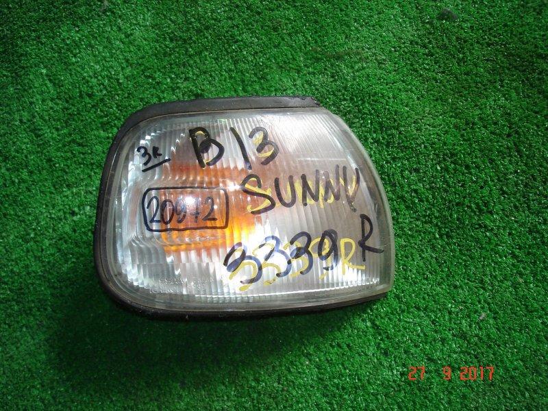 Габарит Nissan Sunny B13 передний правый