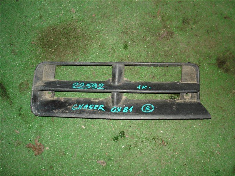 Заглушка бампера Toyota Chaser GX81 правая