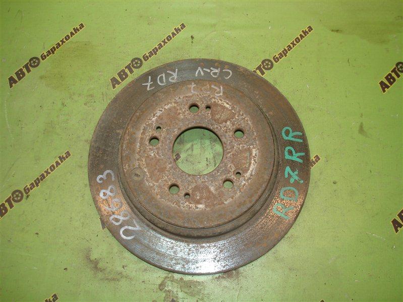 Диск тормозной Honda Cr-V RD7 задний
