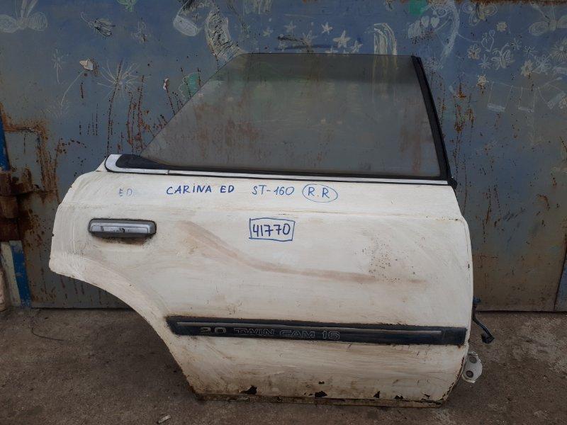 Дверь Toyota Carina Ed ST160 задняя правая