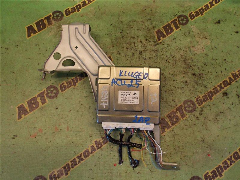 Блок управления бортовой электросетью Toyota Kluger V ACU25 2AZ-FE