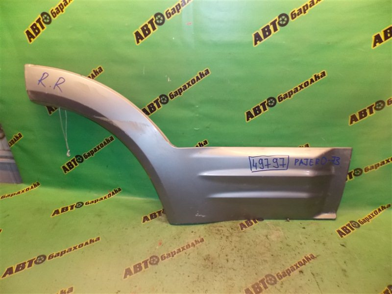Накладка на дверь Mitsubishi Pajero V73W 6G72 задняя правая