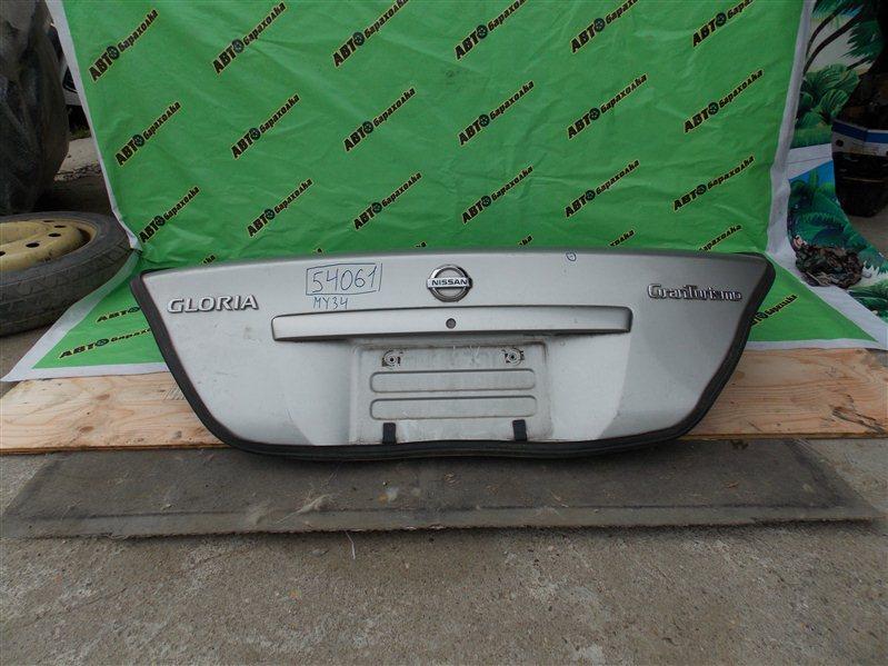 Крышка багажника Nissan Gloria MY34 VQ25(DD) 2002 задняя