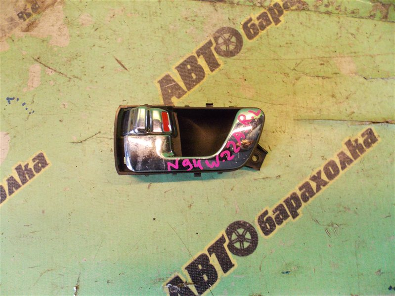 Ручка двери внутренняя Mitsubishi Chariot Grandis N94W 4G64 12/2000 задняя левая