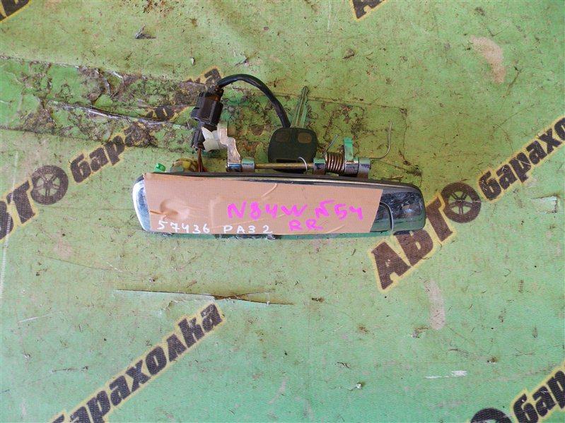 Ручка двери внешняя Mitsubishi Chariot Grandis N84W 4G64 1999 задняя правая