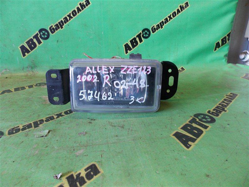 Туманка Toyota Allex ZZE123 2002 передняя правая