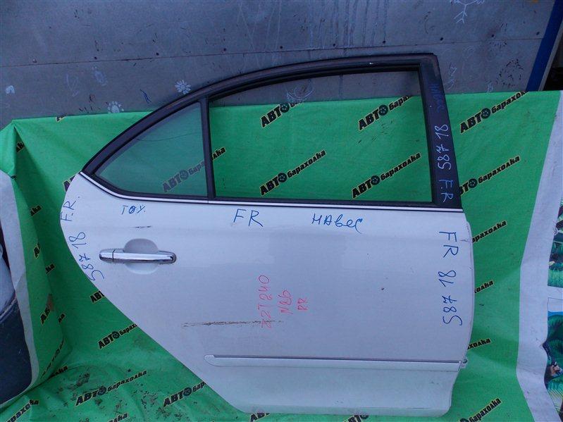 Дверь Toyota Premio ZZT240 1ZZ-FE 2006 задняя правая