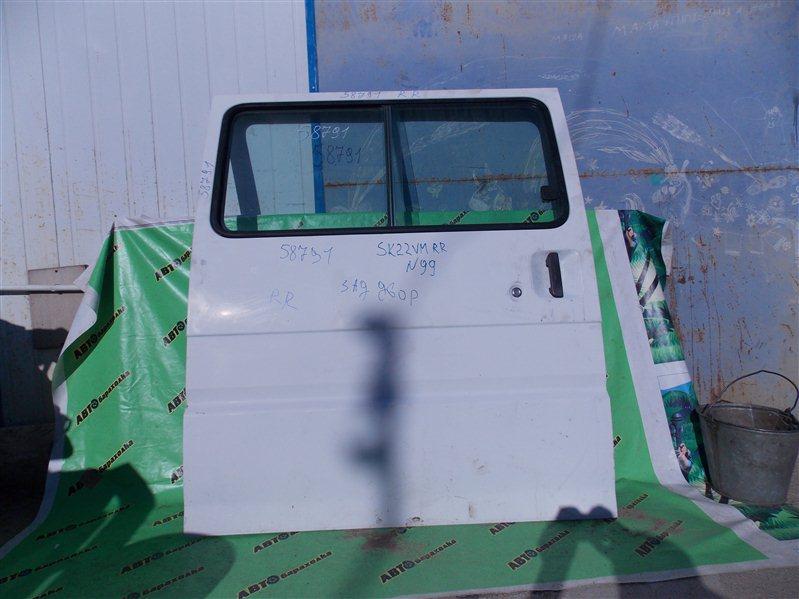 Дверь боковая (раздвижная) Mitsubishi Delica SK22VM R2 2001 задняя правая