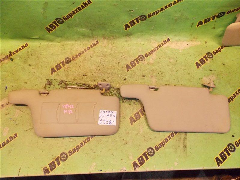 Козырек солнцезащитный Nissan Ad VAY12 CR12(DE) 2008