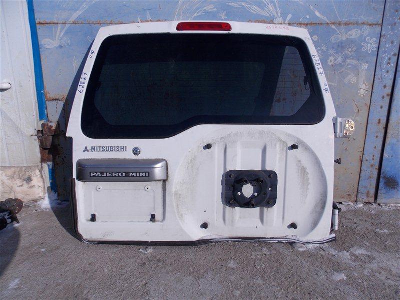 Дверь 5-я Mitsubishi Pajero Mini H53A 4A30 2001 задняя