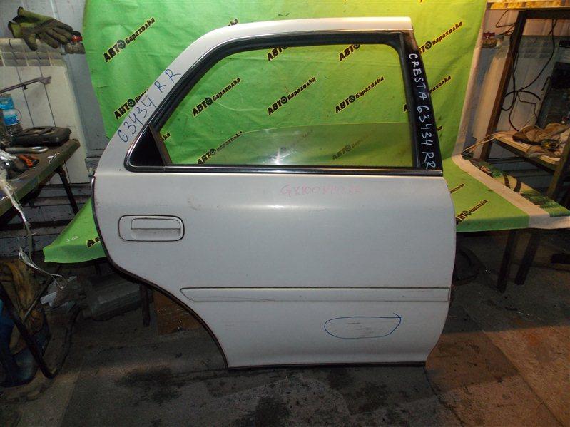 Дверь Toyota Cresta GX100 1G-FE 1996 задняя правая