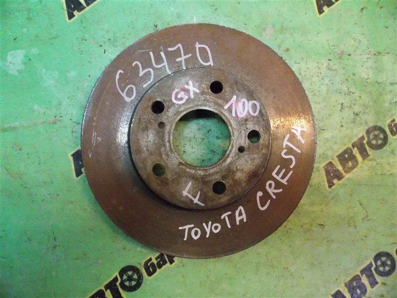 Диск тормозной Toyota Cresta GX100 передний