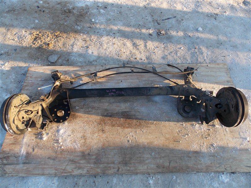 Балка со ступицами Toyota Ractis SCP100 2SZ-FE 2007 задняя
