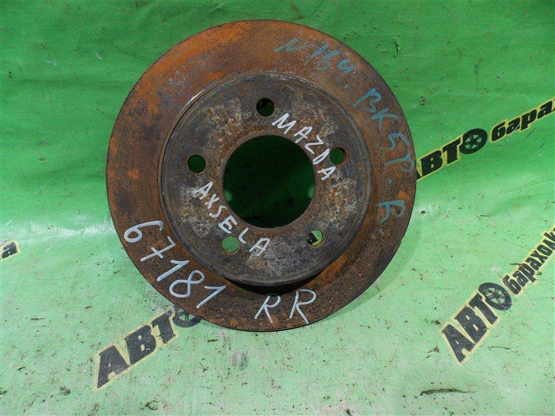Диск тормозной Mazda Axela BK5P ZY 2009 задний правый