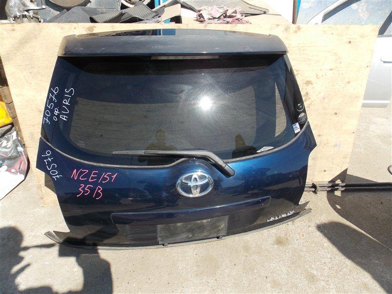 Дверь 5-я Toyota Auris NZE151 1NZ-FE 2008 задняя