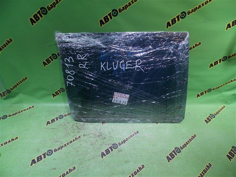 Стекло двери Toyota Kluger V ACU25 2AZ-FE 2002 заднее правое