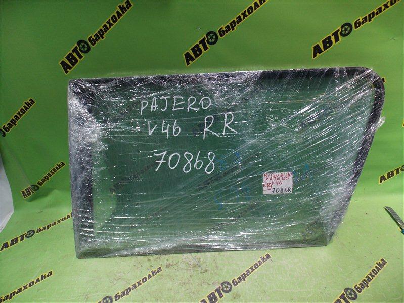 Стекло собачника Mitsubishi Pajero V46 4M40 1996 заднее правое