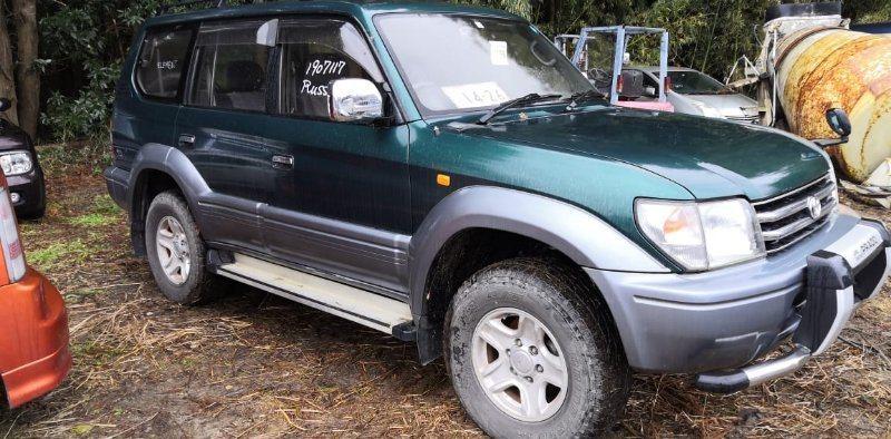 Стекло собачника Toyota Land Cruiser Prado KZJ95 1KZ-TE 1997 заднее правое