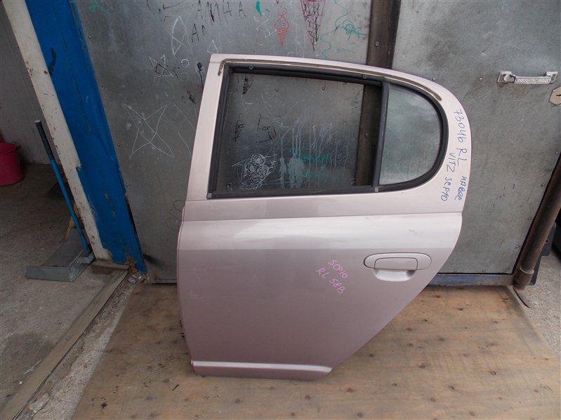 Дверь Toyota Vitz SCP10 1SZ-FE 2000 задняя левая