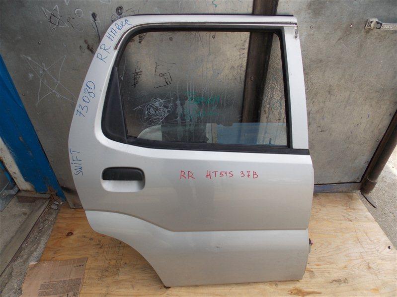 Дверь Suzuki Swift HT51S M13A 2005 задняя правая