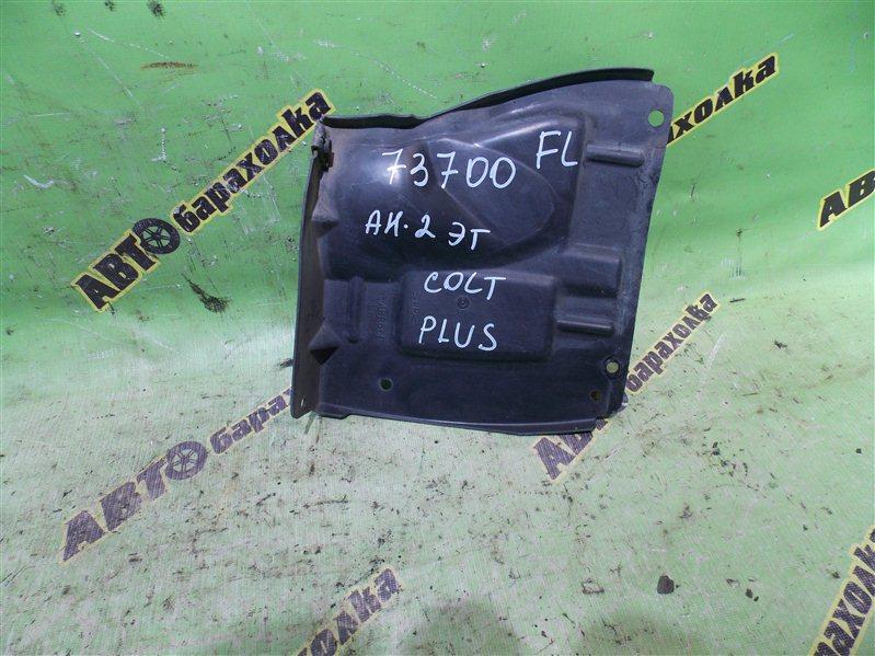Защита двигателя Mitsubishi Colt Plus Z23A 4A91 2008 передняя левая