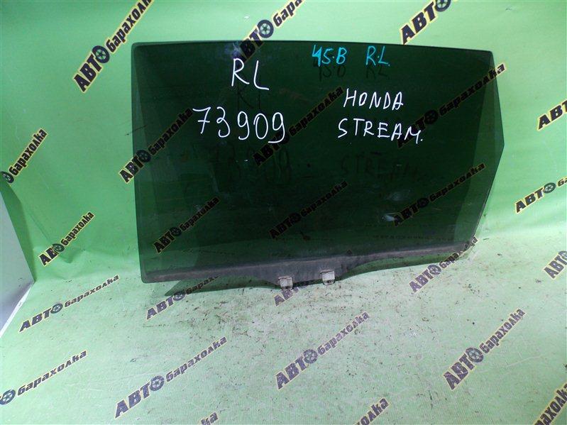 Стекло двери Honda Stream RN1 D17A 2003 заднее левое