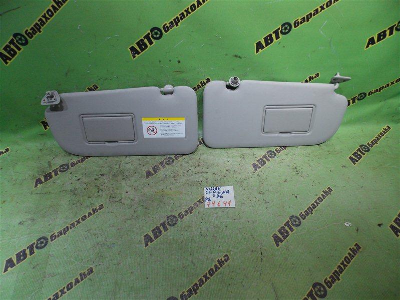 Козырек солнцезащитный Nissan Serena C26 MR20(DD) 2010 передний