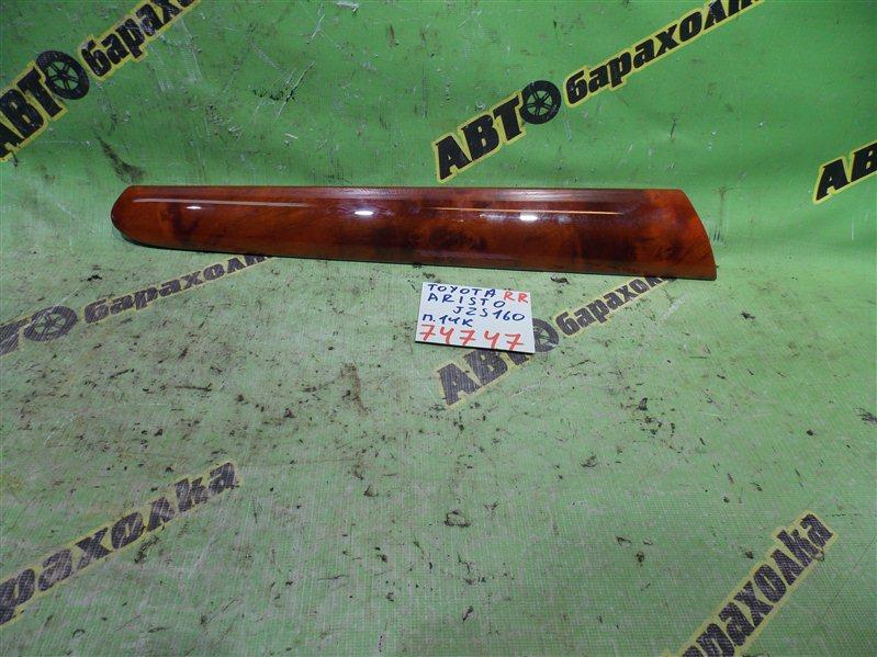 Накладка на дверь Toyota Aristo JZS160 2JZ-GE 2003 задняя правая