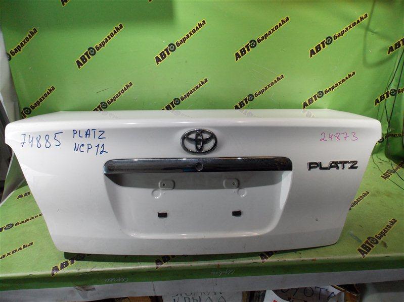 Крышка багажника Toyota Platz NCP12 задняя