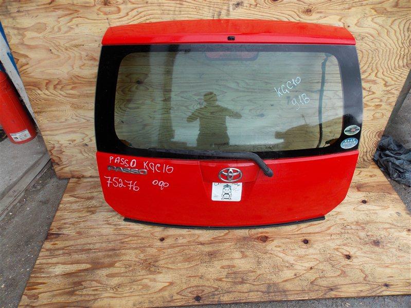 Дверь 5-я Toyota Passo KGC10 1KR-FE 2006 задняя