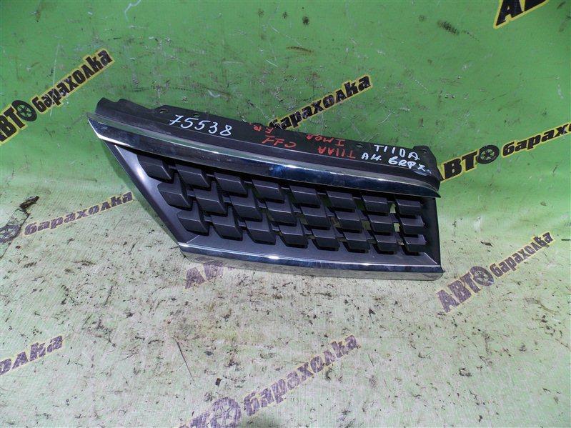 Решетка радиатора Nissan Tiida C11 передняя правая