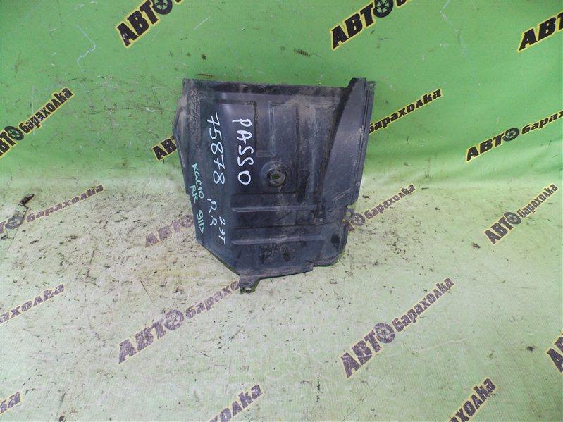 Подкрылок Toyota Passo KGC10 1KR-FE 2006 задний правый