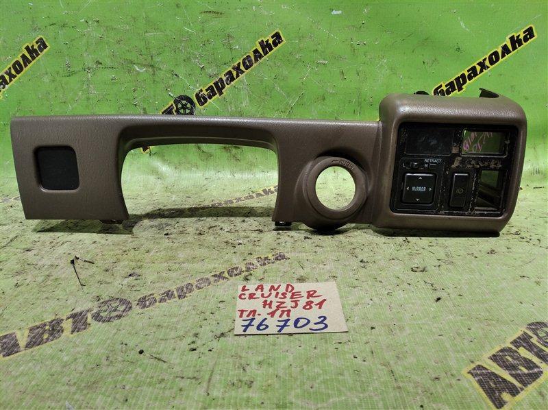 Консоль под щиток приборов Toyota Land Cruiser HZJ81 1HZ 1996