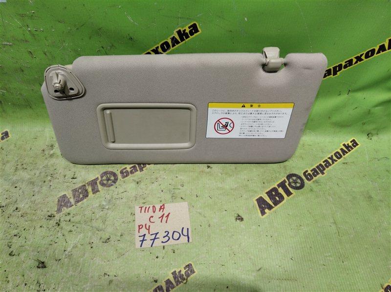 Козырек солнцезащитный Nissan Tiida C11 HR15 2009 левый