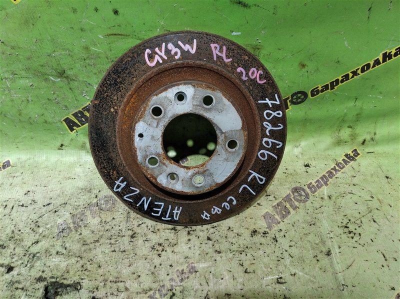 Диск тормозной Mazda Atenza GY3W L3VE 2003 задний левый