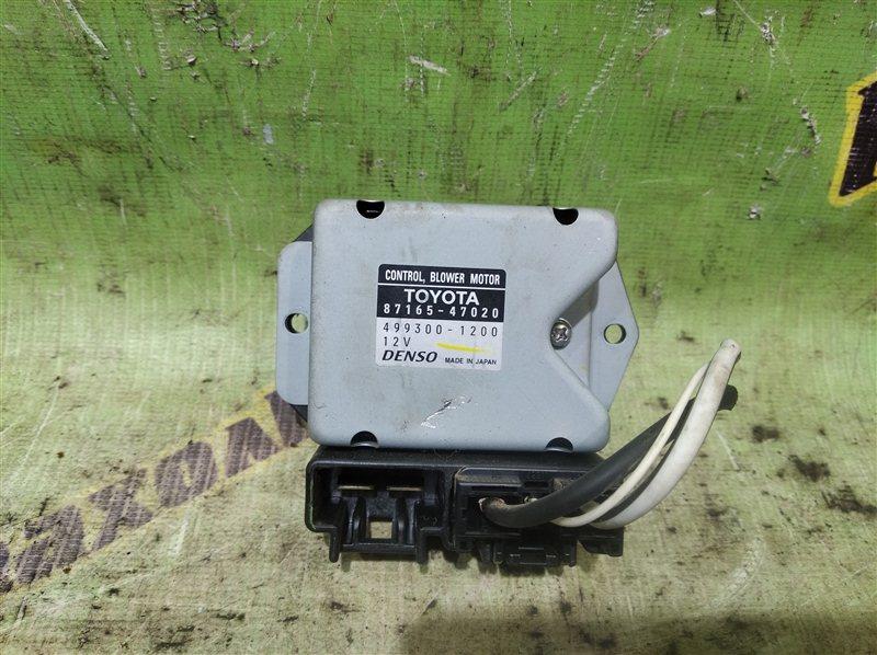 Реостат Toyota Prius NHW20 1NZ-FXE 2007