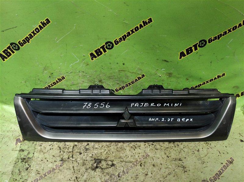 Решетка радиатора Mitsubishi Pajero Mini H58A передняя