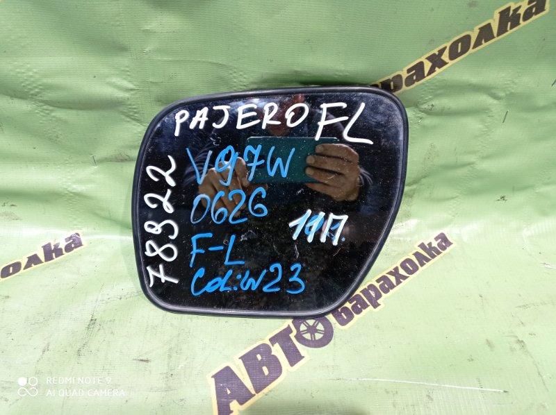 Зеркало-полотно Mitsubishi Pajero V97W переднее левое
